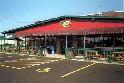 Custom Commercial Awnings (customers stay in the shade)