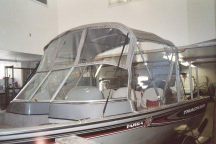 Bimini Top with 3 piece Windshield and Side Windows