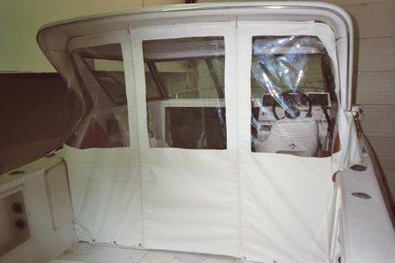Fisherman Three Piece Drop Enclosure With Optical Clear Vinyl Side Windows