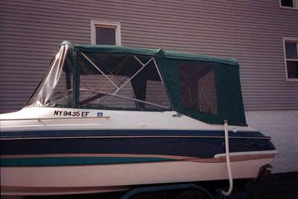 Bimini Top Three Piece Windshield including Side Windows and Camper Back With Screens & Windows